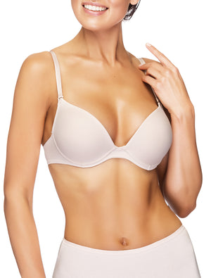Lauma, Nude Moulded T-Shirt Push-up Bra, On Model Front, 90615
