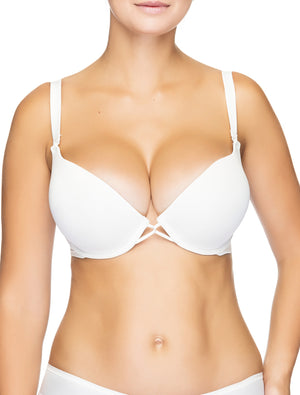 Lauma, Ivory Moulded Multiway T-Shirt Push Up Bra, On Model Front, 90635