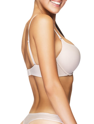 Lauma, Nude Moulded Multiway T-Shirt Push Up Bra, On Model Side, 90635