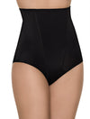 Lauma, Black High Waist Shaping Briefs, On Model Front, 91B55