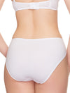 Lauma, White Cotton Mid Waist Panties, On Model Back, 92J50