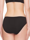 Lauma, Black Cotton Mid Waist Panties, On Model Back, 92J50