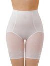 Lauma, Ivory High Waist Shapewear Shorts, On Model Front, 93B55