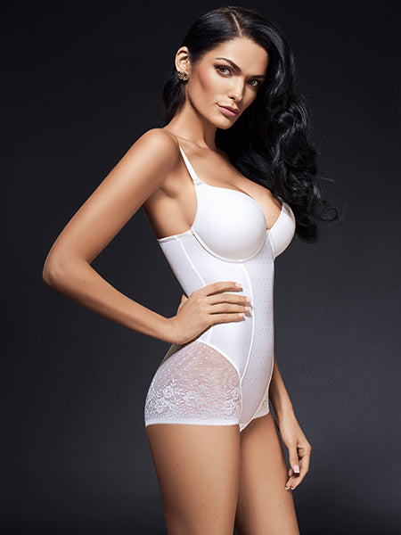 Lauma, Ivory Shapewear Bodysuit, On Model Front, 93B80