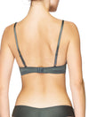 Lauma, Grey Plunge Push Up Bra, On Model Back, 95H10