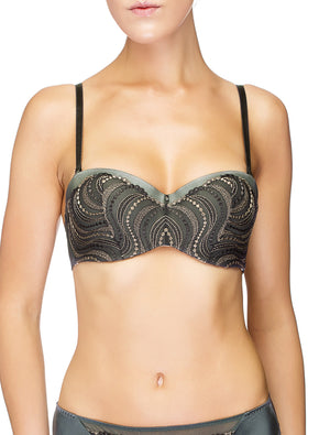 Lauma, Grey Balconette Bra, On Model Front, 95H30