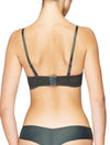 Lauma, Grey Balconette Bra, On Model Back, 95H30