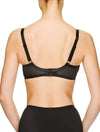 Lauma, Black Underwired Bra, On Model Back, 97H20