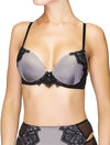 Lauma, Grey Moulded Push-up Bra, On Model Front, 97H35