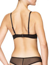 Lauma, Black Moulded Push-up Bra, On Model Back, 97H35
