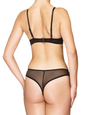 Lauma, Black String Panties, On Model Back, 97H60
