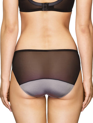 Lauma, Black Mid Waist Panties, On Model Back, 97H50