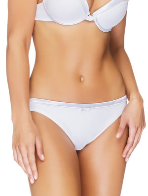 Lauma, White Mid Waist Panties, On Model Front, 99C51