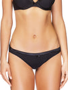 Lauma, Black Mid Waist Panties, On Model Front, 99C51
