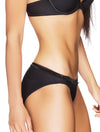 Lauma, Black Mid Waist Panties, On Model Back, 99C51