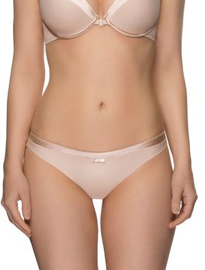 Lauma, Nude Mid Waist Panties, On Model Front, 99C51