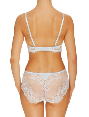 Lauma, Light Blue Lace Push Up Bra, On Model Back, 99G15