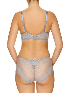 Lauma, Grey Underwired Sot-cup Bra, On Model Back, 99G20