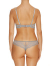 Lauma, Grey Lace String Panties, On Model Back, 99G60