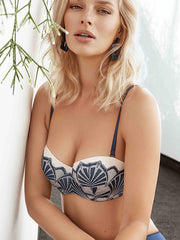 Lauma, Blue Balconette Bra, On Model Front, 53H30