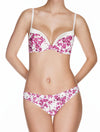Lauma, Pink Moulded Push Up Bra, On Model Front, 39D13