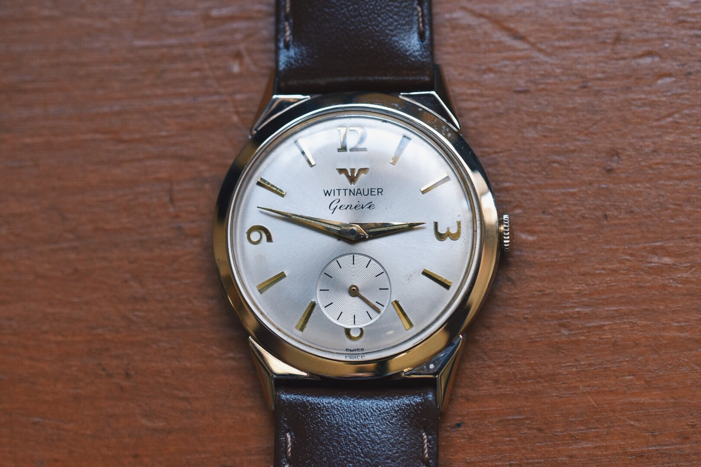 Wittnauer Geneve 10k Rolled Gold Plated Small Seconds