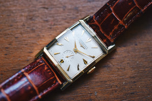 *VERY RARE* 1954 Longines Tank 10k Yellow Gold Filled