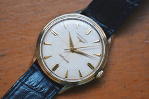 Longines Waffle Dial 10k Gold Filled Automatic