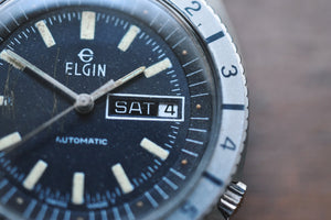 *RARE* Swiss Elgin Tropical Diver