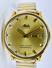 Load image into Gallery viewer, Mido Multi Star Datoday Automatic (24k Gold plated)