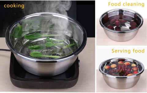 3 in 1 Stainless Steel Drain Basket with Vegetable Cutter