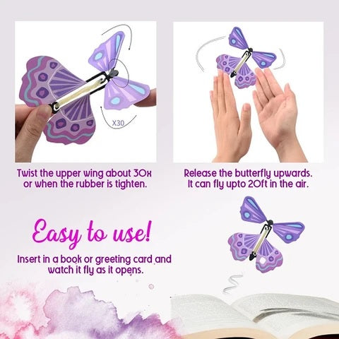 Magic Flying Butterfly Surprise Card