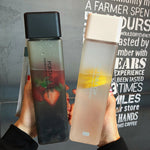 Leak-proof Square Frosted Plastic Water Bottle