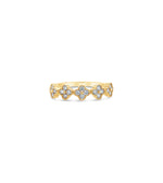 Diamond Clover Stackable Band - 14K Yellow Gold / 5 - Olive & Chain Fine Jewelry