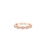 Diamond Marquise Band - 14K Rose Gold / High Polish / 5 - Olive & Chain Fine Jewelry