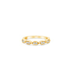 Diamond Marquise Band - 14K Yellow Gold / High Polish / 5 - Olive & Chain Fine Jewelry