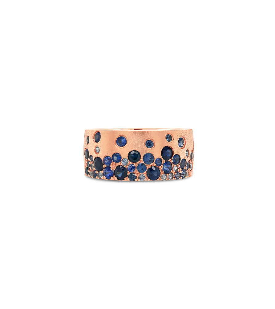 Sapphire Celestial Cigar Band - 14K Rose Gold / 5 - Olive & Chain Fine Jewelry