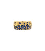 Sapphire Celestial Cigar Band - 14K Yellow Gold / 5 - Olive & Chain Fine Jewelry