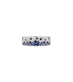 Sapphire Celestial Mini Cigar Band - 14K White Gold / 5 - Olive & Chain Fine Jewelry