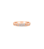 Diamond Celestial Petite Band - 14K Rose Gold / 5 - Olive & Chain Fine Jewelry