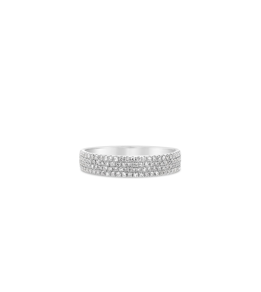 Diamond Cigar Band - 14K White Gold / Small / 5 - Olive & Chain Fine Jewelry