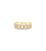 Diamond Cuban Link Ring - 14K Yellow Gold / 5 - Olive & Chain Fine Jewelry