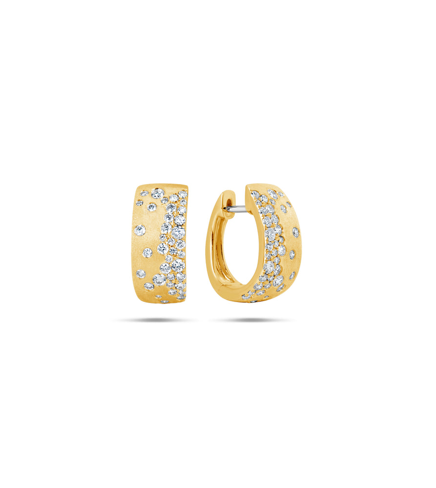 Diamond Celestial Hoop Earring