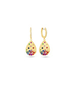 Rainbow Celestial Pear Earring