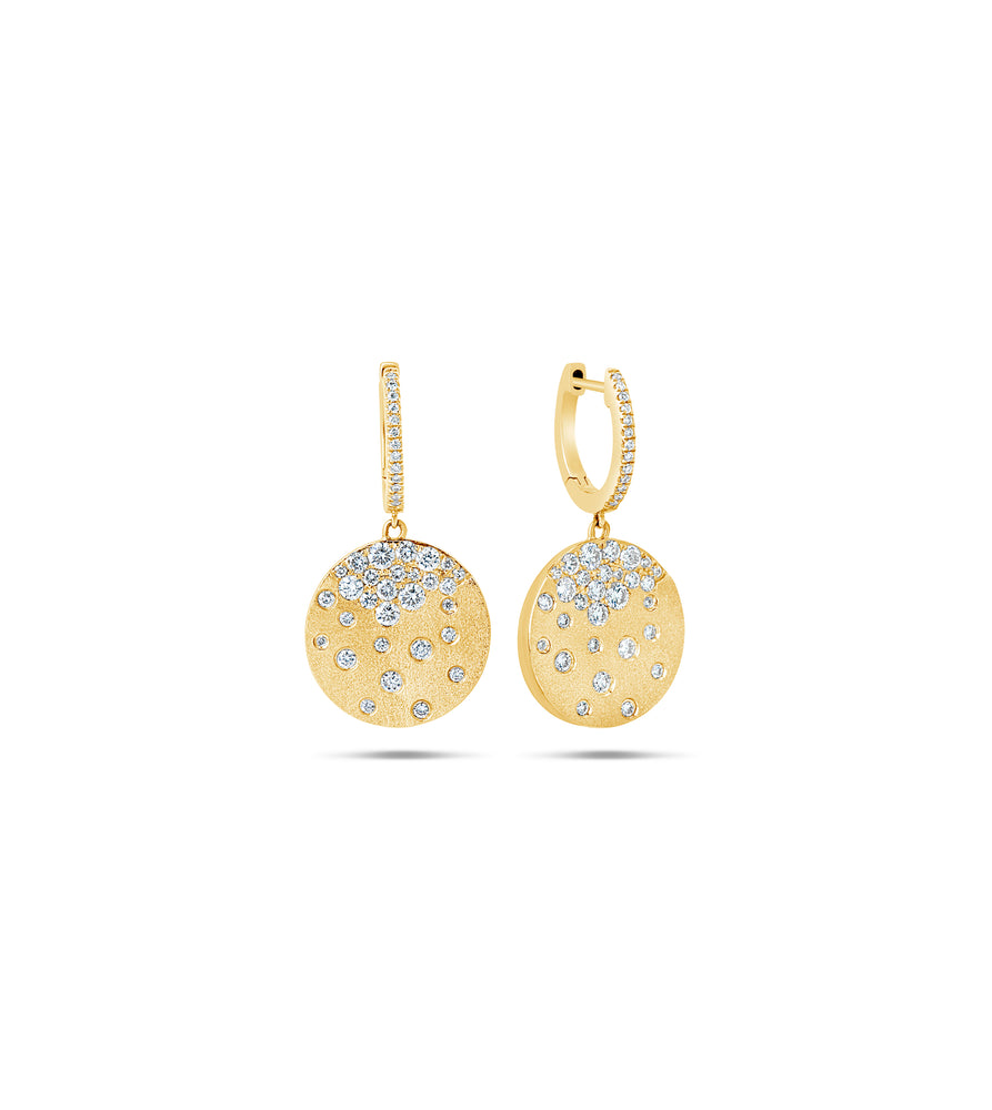 Diamond Celestial Disc Earring