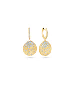 Diamond Celestial Disc Earring - 14K  - Olive & Chain Fine Jewelry