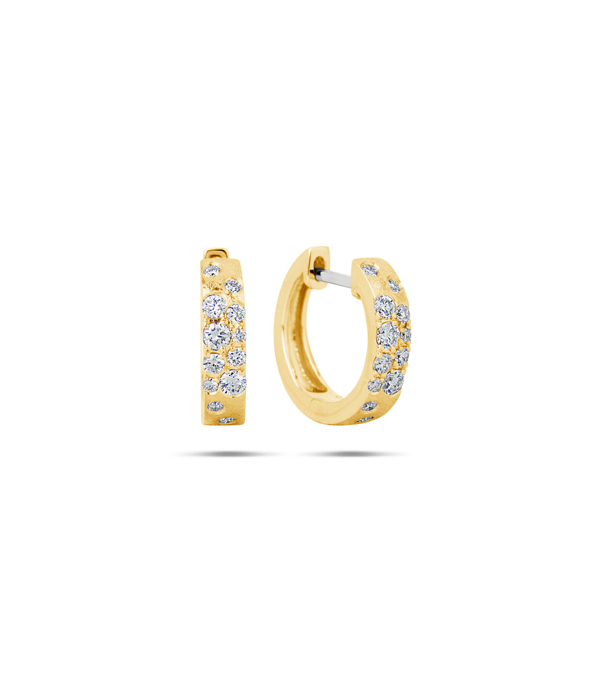 Diamond Celestial Huggie Earring - 14K Yellow Gold - Olive & Chain Fine Jewelry