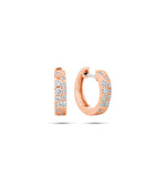 Diamond Celestial Huggie Earring - 14K Rose Gold - Olive & Chain Fine Jewelry