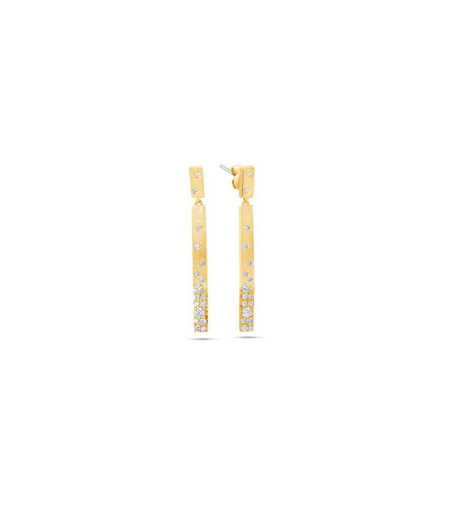 Diamond Celestial Bar Earring