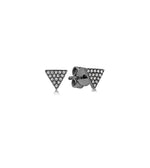 Diamond Triangle Stud Earring - 14K Black Gold / Small / Pair - Olive & Chain Fine Jewelry